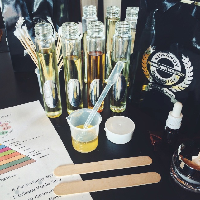 Fragrance blending workshop, hosted by Kumanov Cosmetics