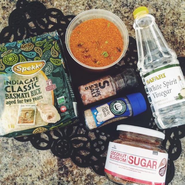 HCLF vegan sweet curried rice