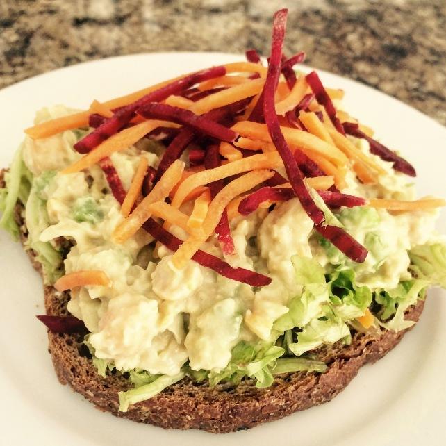 Vegan Chick Pea Mayo Sandwich